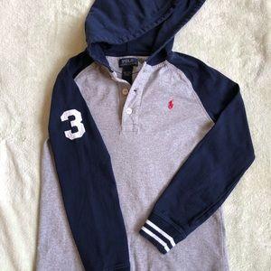Polo Ralph Lauren Hooded Shirt - Boys Size 7